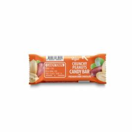Baton cu Arahide invelit in Ciocolata Amaruie Bio 50g Candy Town