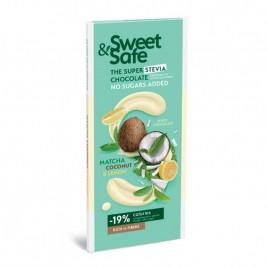 Ciocolata alba Matcha-Cocos 90gr Sweet Safe Sly Nutritia
