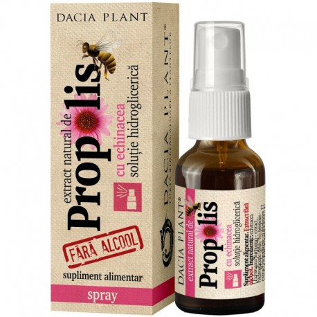 Extract De Propolis Si Echinacea Fara Alcool Spray - 20ml Dacia Plant