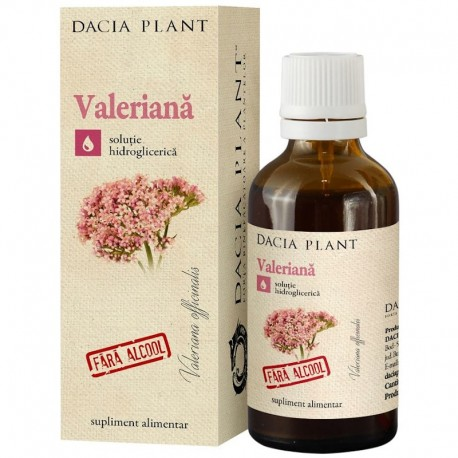 Extract Hidrogliceric Valeriana Fara Alcool 50ml Dacia Plant