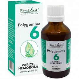 Polygemma Nr.6 Varice-Hemoroizi 50ml Plantextrakt