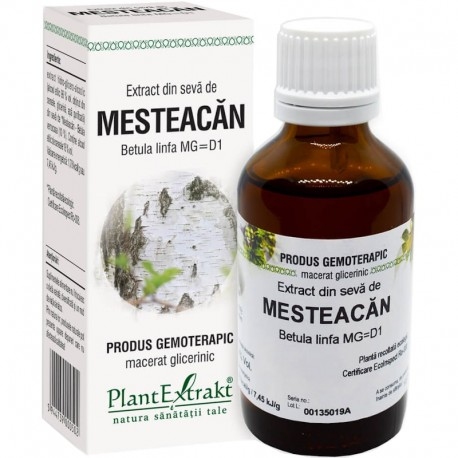 Extract Gemoterapeutic Mesteacan Seva 50ml Plantex