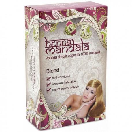 Pudra Henna Blond 100g Henna Mandala
