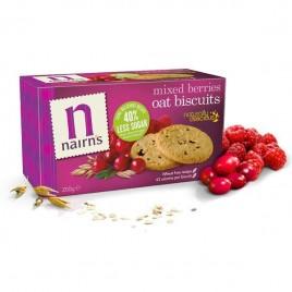 Biscuiti Ovaz Integral Fructe Padure, 200g Nairn`s