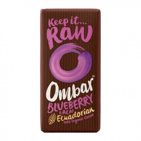 Ciocolata Raw cu Acai, Afine - Eco 35g Ombar
