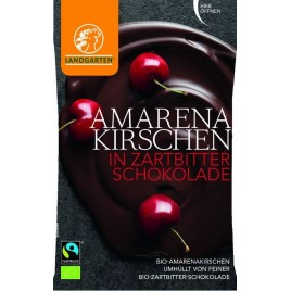 Cirese Amarena In Ciocolata Neagra Bio 50g Landgarten