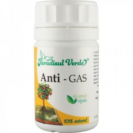 Capsule Vegetale Anti-Gas, 60cps Paradisul Verde