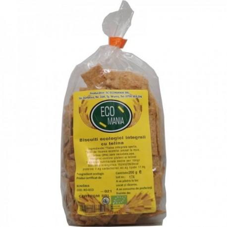 Biscuiti Integrali cu Seminte de Telina, Eco 200g Ecomania