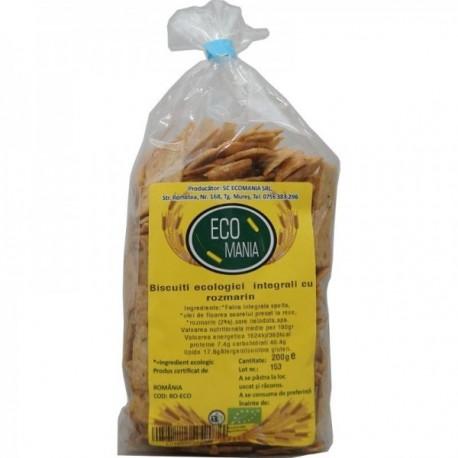 Biscuiti Integrali cu Rozmarin, Eco 200g Ecomania