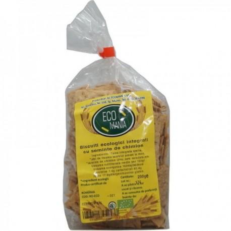 Biscuiti Integrali cu Seminte de Chimion, Eco 200g Ecomania