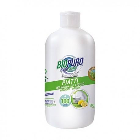 Detergent Lichid Pentru Vase Hipoalergenic - Eco 500ml Biopuro