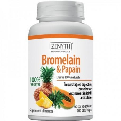 Bromelain Papaya Emzime - 60cps Zenyth Pharmaceuticals