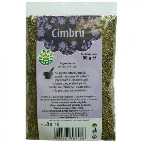 Condiment Cimbru Herbal Sana - 50g Herbavit