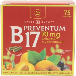 Preventum B17 70mg Swiss Quality - 75cps Herbamedicus