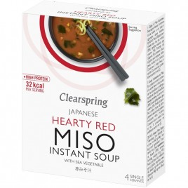 Supa Instant Miso Rosu Alge - 40g Clearspring