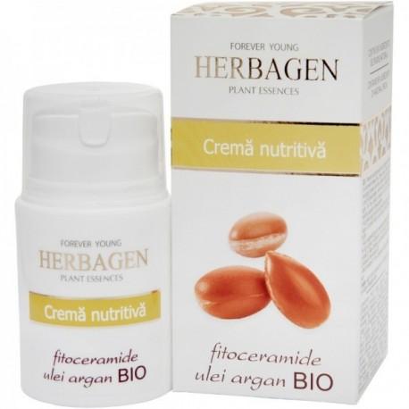 Crema Nutritiva Fitoceramide Ulei Argan 50ml Herbagen