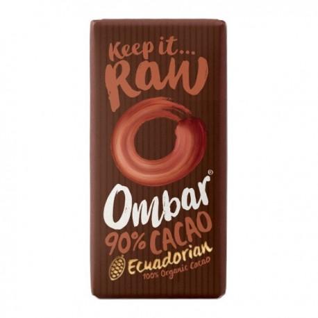 Ciocolata Raw Dark 90 Cacao, Eco 35g Ombar