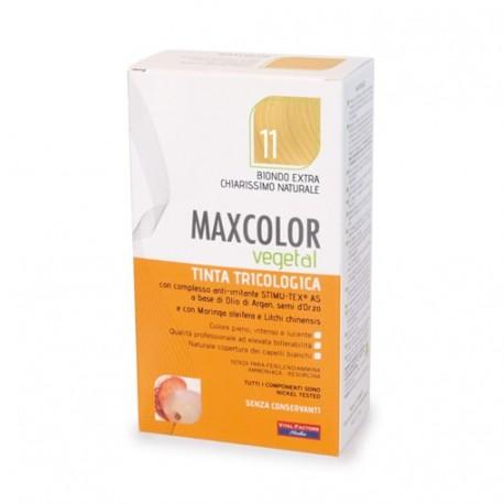 Vopsea de par vegetala blond platinat 11 140ml MaxColor Farmaderbe