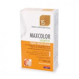 Vopsea de par vegetala blond piersica 15 140ml MaxColor Farmaderbe