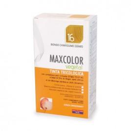 Vopsea de par vegetala blond platinat auriu 16 140ml MaxColor Farmaderbe