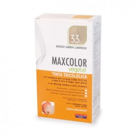 Vopsea de par vegetala blond nisipiu luminos 33 140ml MaxColor Farmaderbe