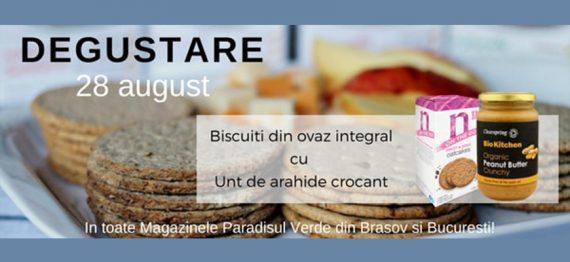 Degustare biscuiti din ovaz integral cu Unt de arahide crocant