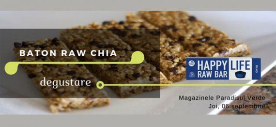 Degustare Baton raw cu seminte de Chia
