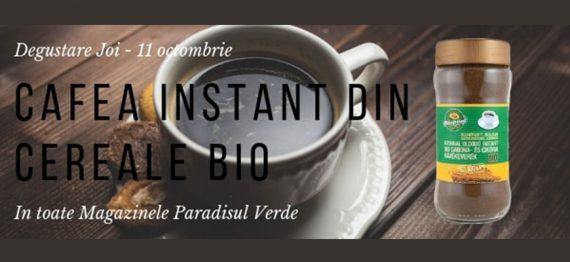 Degustare cafea instant din cereale bio