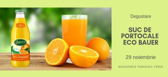 Degustare Suc de portocale eco Bauer