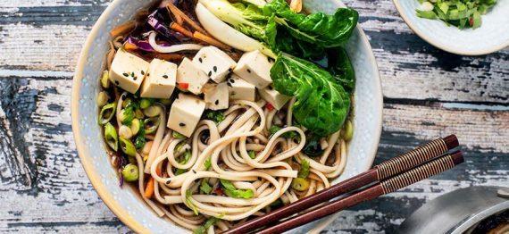 Supa de taitei udon cu miso si ghimbir