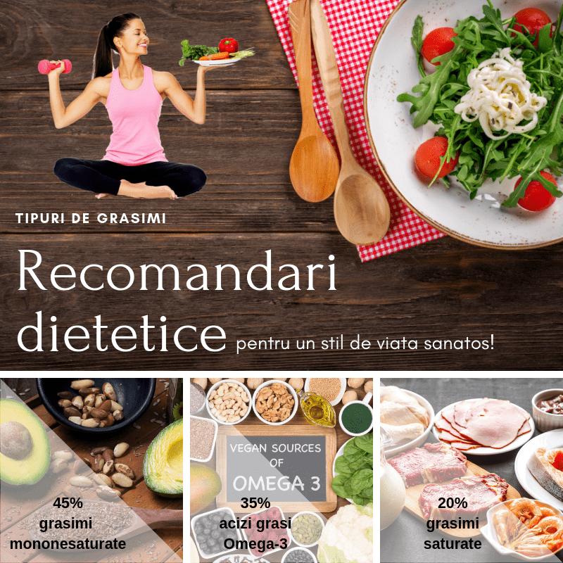 tipuri de grasimi - recomandari dietetice