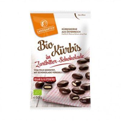 Seminte de Dovleac in Ciocolata Neagra Bio 50g Landgarten
