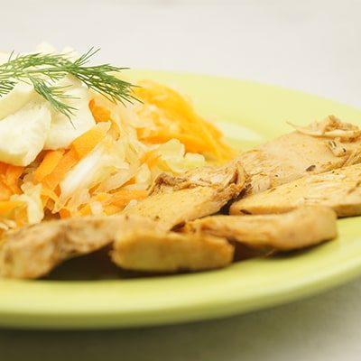 salata cu maioneza vegetala
