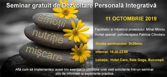 Seminar gratuit de Dezvoltare Personală Integrativă
