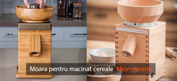 Faina produsa in casa cu moara pentru cereale - video