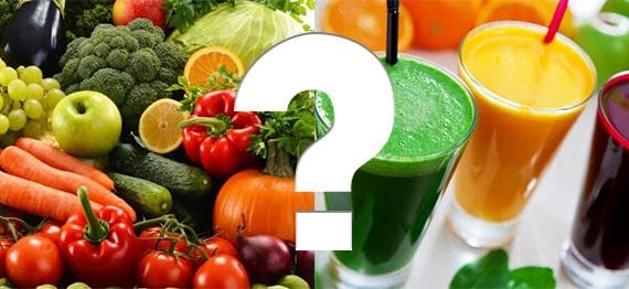 A bea suc vs. a consuma fructe si legume