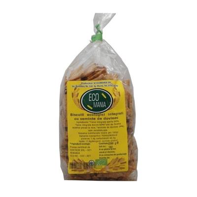 Biscuiti Integrali cu Seminte de Dovleac, Eco 200g Ecomania