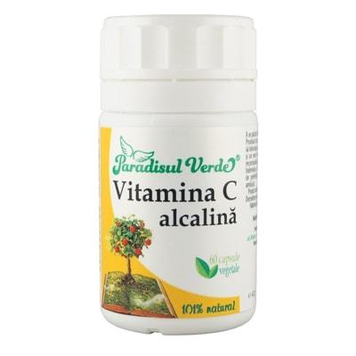 Vitamina C Alcalina - 60cps Paradisul Verde
